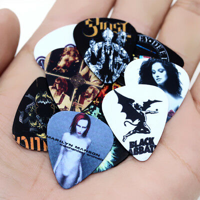 10pcs 0.46mm Musical Accessories Guitar Picks Plectrums