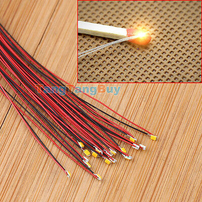 T0603WM T0402 1206 Pre-soldered micro litz wired leads SMD Led Mutil-color 20pcs