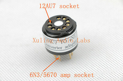 1pc Gold plated 6N3 5670 WE396A TO 6SN7 5692 B65 CV181 tube converter adapter