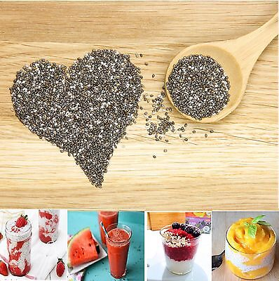 CHIA SEEDS SUPERFOOD GLUTEN FREE GMO FREE 100% NATURAL 100g - 5kg Free Delivery