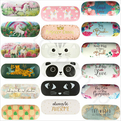 Hard Glass Case Spectacle Floral Reading Storage Case Sunglasses Glasses Cases