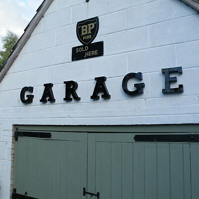 GARAGE 3D metal letter set mancave wall sign man cave shed workshop vintage old