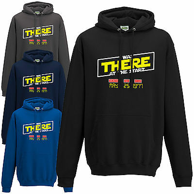 I Was There At The Start Hoodie Star Wars 1977 Release Date Kids Mens Hoody Top