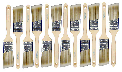 "BIG 12 PACK 1-1/2""Angle Sash PRO PERFECT PAINT BRUSH LOT"