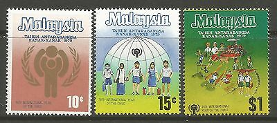 MALAYSIA. 1979. Year of The Child Set. SG: 200/202.  Mint Never Hinged.