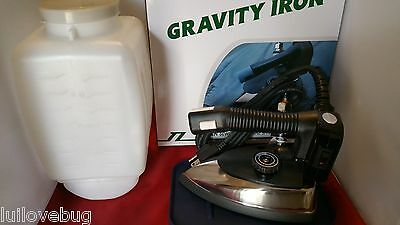 Industrial Gravity Feed Steam Iron Complete with Teflon Shoe & Water Bottle