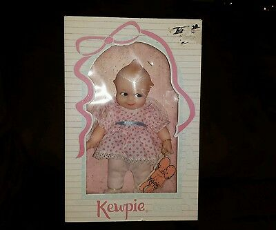 Original Cameo's Kewpie Doll In Box Jesco Collectible Figurines Pink Dress