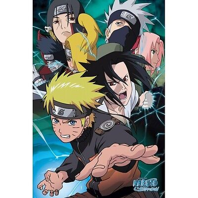 "NARUTO POSTER ""TEAM"" BRAND NEW ""LARGE SIZE 61cm X 91.5cm"""