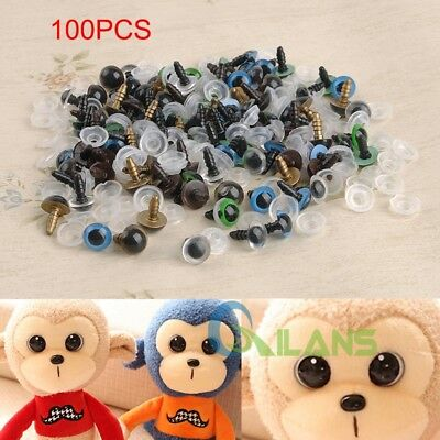 100pcs Plastic Safety Eyes Eyeballs DIY Making Bear Toys Animal Mask Doll Craft