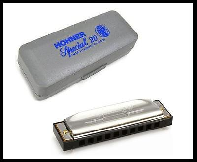 Harmonica Hohner Special 20 Progressive Key of C + Lessons