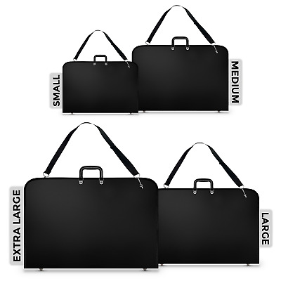 Water Proof Design Portfolio Black Case Art Work Painting Folder Bag A2 A3 & A4