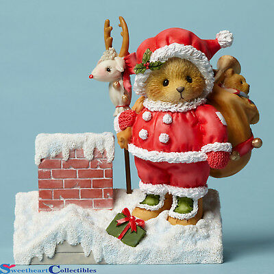 Cherished Teddies 4047378 Santa on Rooftop with Toys