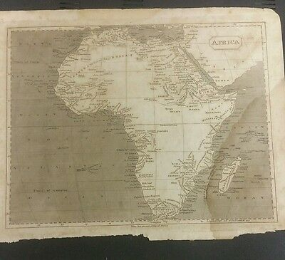 ANTIQUE  AFRICA ARROWSMITH MAP HOTTENTOT circa 1816