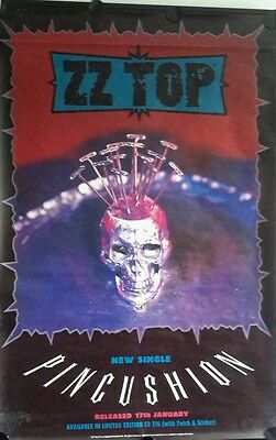 ZZ TOP -  PINCUSHION Original PROMO POSTER   39 x  60  inch.FREE INT. SHIPPING