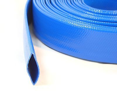 Heavy Duty Lay Flat Pool Discharge & Backwash Hose for Pumps Water Tubing 30 Ft