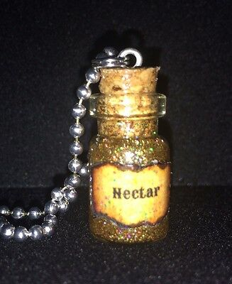Nectar Of The Gods Potion Bottle Necklace For Fan Of Percy Jackson Geekery