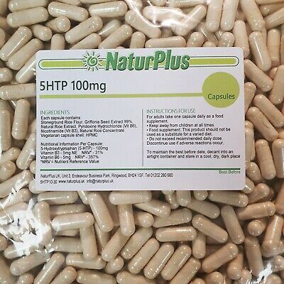5-HTP - 100mg - for natural serotonin - 120 capsules - NaturPlus