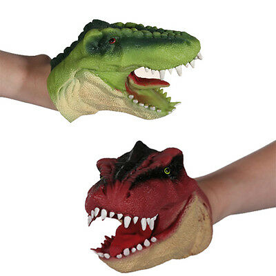 Dinosaur Hand Puppet Fun Moving Mouth Kids Play Toy Xmas Gift Glove Role New