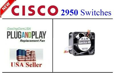 New Replacement fan for Sunon KDE1204PKVX-A NMB 1608KL-04W-B79. Cisco 2950 2811