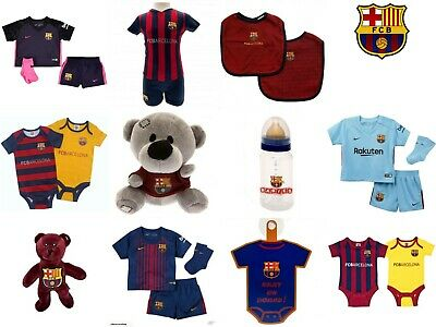 Barcelona  Baby Kit baby Grow Sleep Suit  Vests 2 Pack Romper Shirt & Shorts Bib