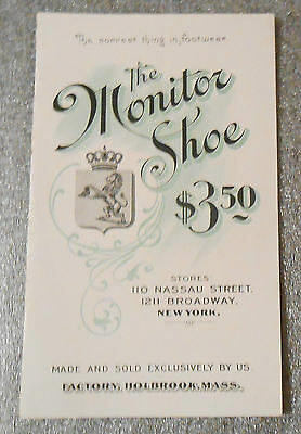 The Monitor Shoe trade card catalogue