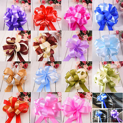 30mm Pull Bow Ribbon Decoration Large Wedding Car Gift Wrap Floristry 12Colours