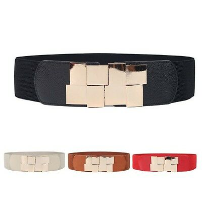 New Fashion Lady Wide Stretch Elastic Wide Belt Dress Leather Belts Accessories