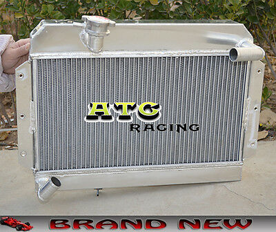 56Mm All Aluminum Radiator For 1955-1962 Rover/mg Mga 1500/1600/1622/de-Luxe
