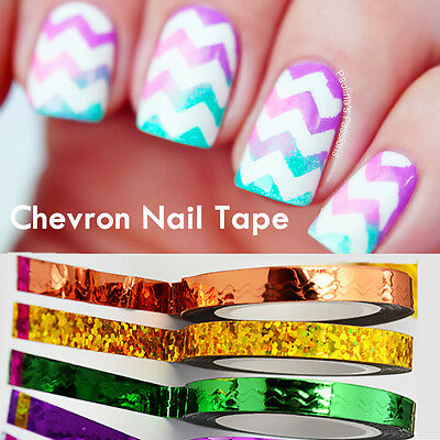 1 Roll Chevron Nail Art Striping Tape Laser Line Stickers for  Decor DIY