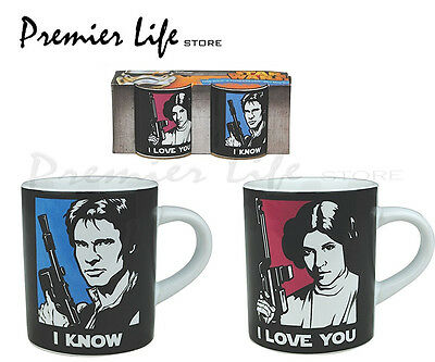 Star Wars Han Solo & Princess Leia Mini Mug Set