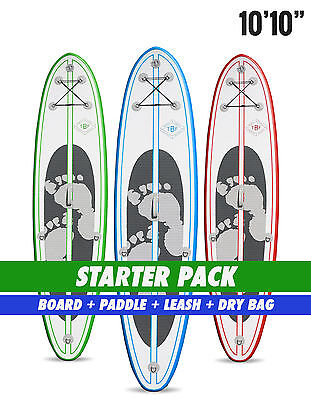"Two Bare Feet Model II 10'10"" STARTER PACK Inflatable SUP Stand Up Paddle"