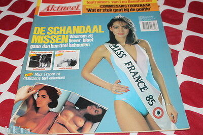 Aktueel # 8 1985 Miss France Lennin Miss Scandals