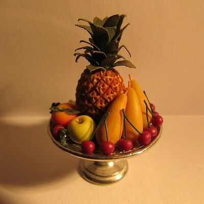 Fruit on Metal Stand ~ Doll House Miniature ~ 1/12th scale