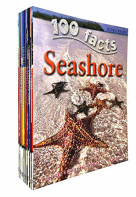 100 Facts 10 Books Set Collection series 2 Includes Children Project Quizzes..