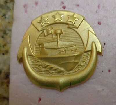 U.s.navy, Small Craft Officer In Charge   Qualification Badge, Large