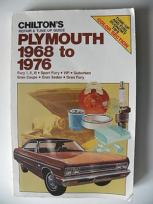 Revue technique automobile / manuel PLYMOUTH 1968 à 1976 en anglais