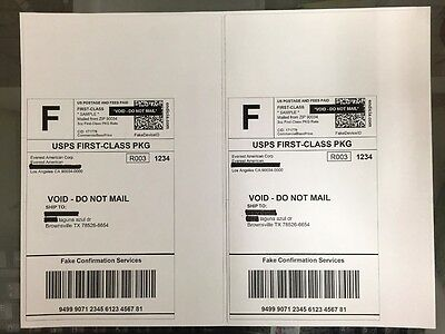2000 Self-Adhesive Shipping Postage Label A4(2 Label/Page 8.5x5.5) Round Edges