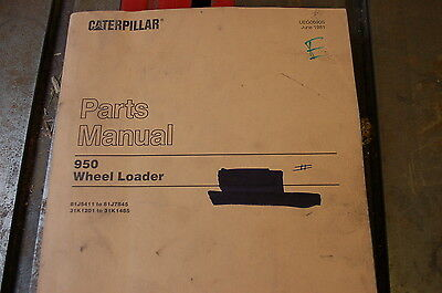 CAT Caterpillar 950 Wheel Loader Parts Manual Book front end pay rubber tire 81