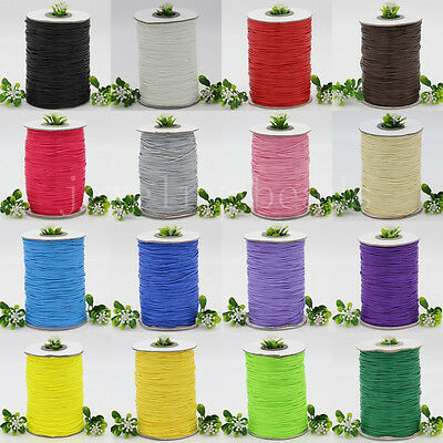 10/200Yards Waxed Cotton Cord Various Colours Lengths Available Jewelry 1mm New
