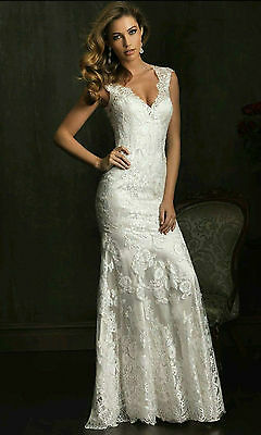 New White/Ivory Mermaid Lace Bridal Gown Wedding dress Custom 4 6 8 10 12 14 16+