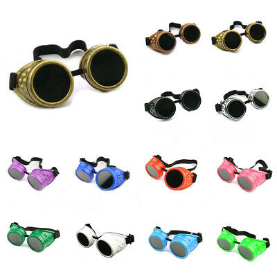 New Vintage Steampunk Goggles Glasses Welding Cyber Punk Gothic Cosplay T