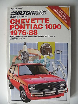 Revue technique automobile / manuel CHEVETTE PONTIAC 1000 1976 / 1988 en anglais