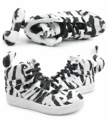 huge discount b7b1e c0341 Adidas Originals Jeremy Scott Tigre Blanc Chaussure Basket Ref- B26037