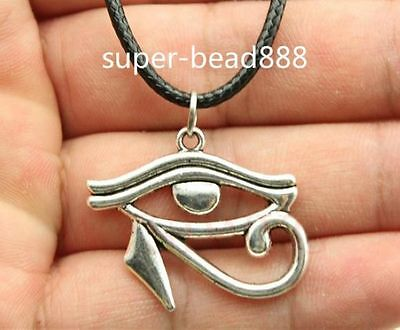 1pcs Antique Silver Rah Egypt Eye Of Horus Egyptian Charms Pendants Necklace