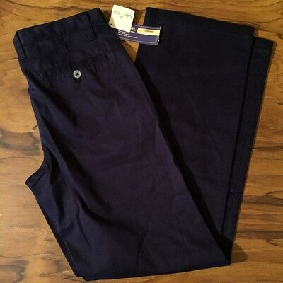 "Cherokee Uniform Pants Navy Blue Slacks ""NWT"" Sz 16"