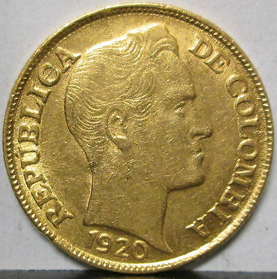 1920A Colombia Gold 5 Pesos