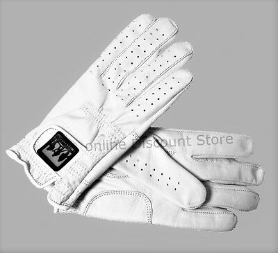WHITE Retro Real Leather Mens Ladies Winter Driving Gloves Unlined Chauffeur