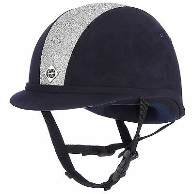 Charles Owen Yr8 Sparkly Navy/shiny Silver Equine Horse Hats