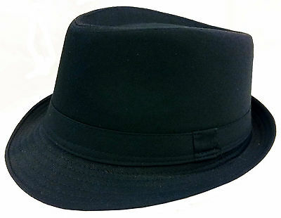 WHOLESALE LOTS 12 PCS Black Fedora Gangster Bucket Hat Cap