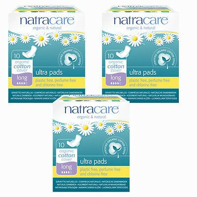 Natracare Organic Sanitary Towels: Ultra Pads, Winged Liners Long X 3